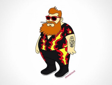Action Bronson gets Simpsons makeover