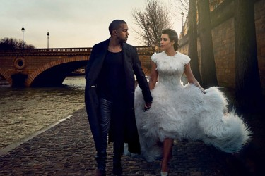 Kanye West, Kim Kardashian Vogue April 2014 coverstory