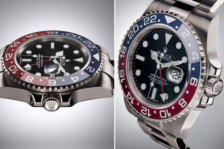 Rolex GMT-Master II White Gold, Blue/Red