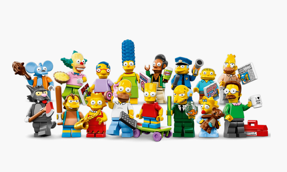 16 LEGO x Simpsons mini-figurines