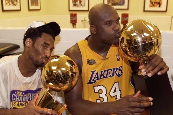Kobe Bryant and Shaquille O'Neal