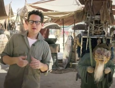 Director J.J. Abrams on set of new STAR WARS.