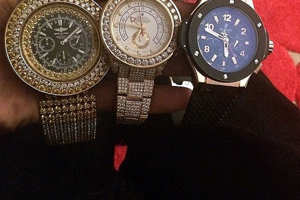 Instagram account busts rappers with fake watches for Rapper watches