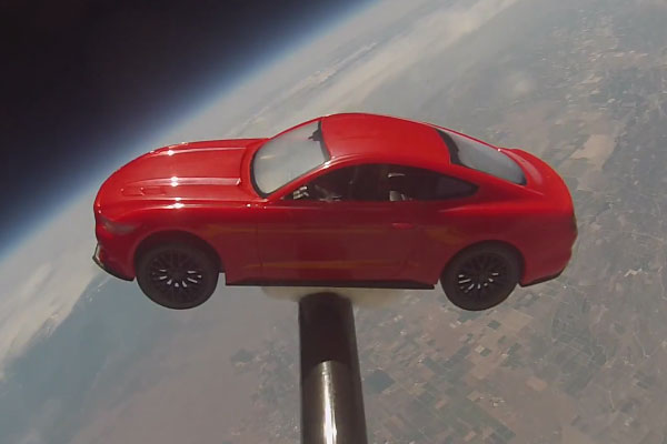 2015 Ford Mustang Launched Into Space