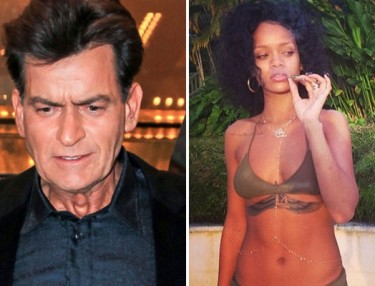 Charlie Sheen and Rihanna