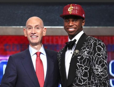 Andrew Wiggins at the NBA Draft