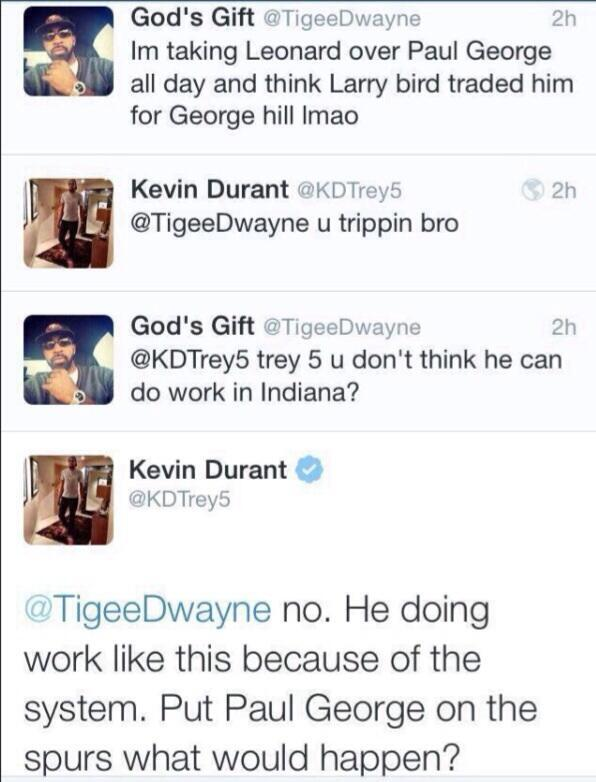Kevin Durant not impressed by Kawhi Leonard