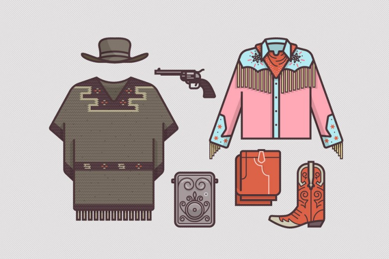 Famous Film Costumes Illustrations By Putham