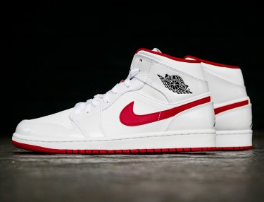 Air Jordan 1 Mid White/Gym Red/Black
