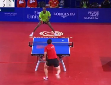 Ping-Pong Match At Commonwealth Games Amazes
