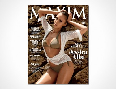 Jessica Alba Covers September Issue Of Maxim
