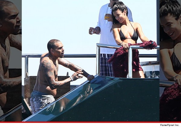 Chris Brown vacations in St. Tropez