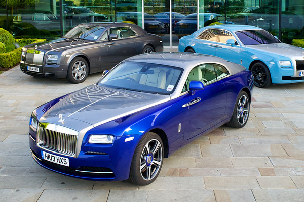 Rolls-Royce line-up - Phantom, Ghost and Wraith