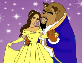 Kanye West, Kim Kardashian As Disney Characters