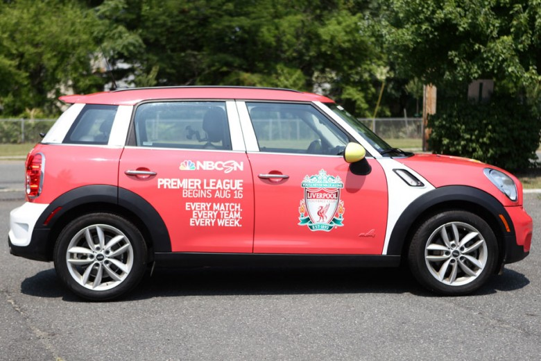 Uber x Barclays Premier League custom Mini Cooper Countryman