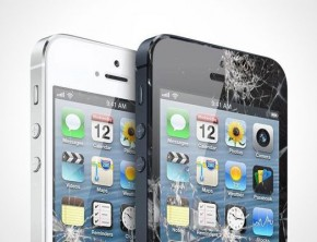 Cracked Apple iPhone