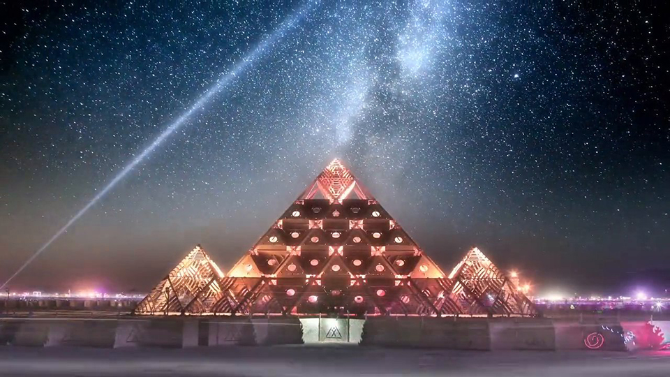 Time-Lapse Of Annual Burning Man Festival