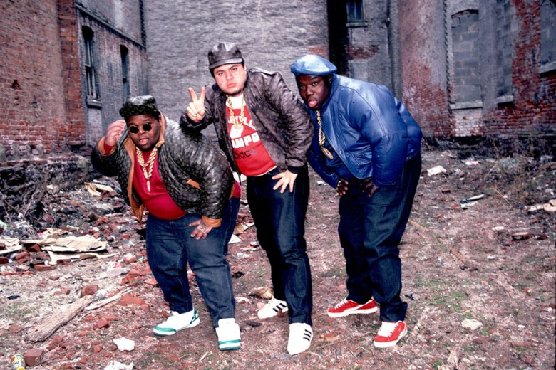 The Fat Boys wearing dark Levi's in the 1980's