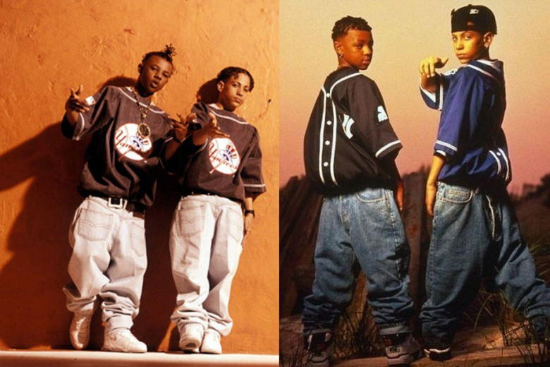 In the 1990's, Kriss Kross rocked over-sized Levi's backwards. Totally crossed out.