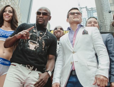 Floyd Mayweather and Marcos Maidana