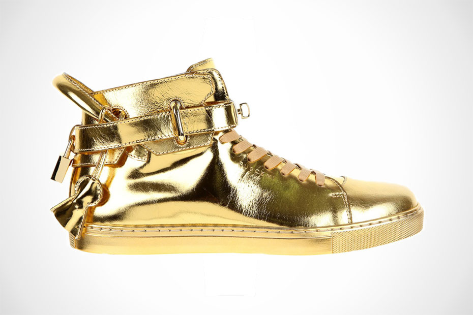 Buscemi Shoes Gold Buscemi 100 mm High Top Gold