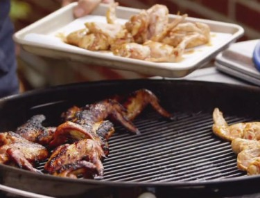Grilled Korean x Rye Whiskey BBQ-Style Wings By Michael Symon