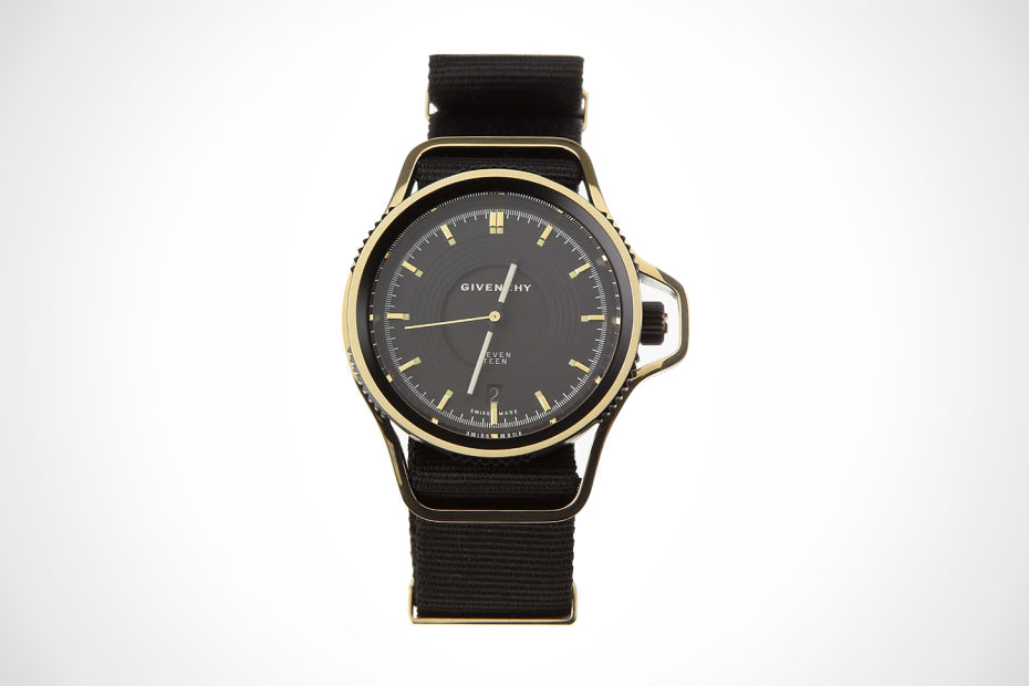 Givenchy seventeen watch in black gold for Givenchy watches