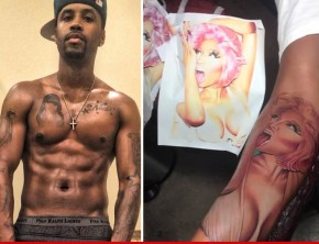 ScaffBeezy covers up tattoo