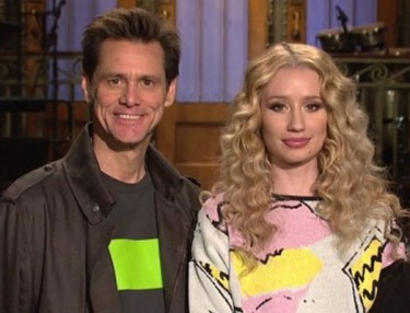 Iggy Azalea & Jim Carrey In SNL Promo
