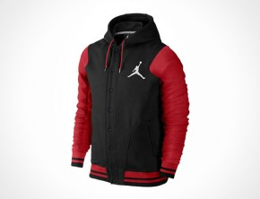 Varsity Hoodie Black/Gym Red by Jordan