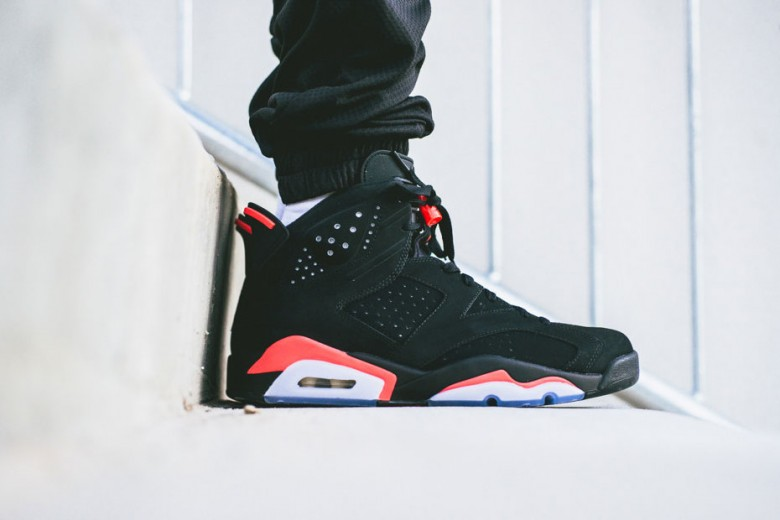 Air Jordan 6 Retro Noir / Infrarouge 23-noir 2014