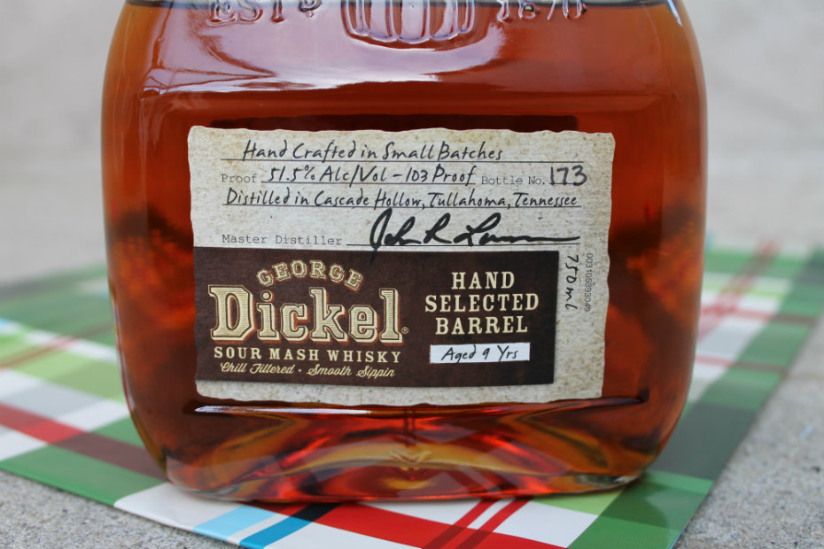 George Dickel: Sour Mash Whisky (Aged 9 Years)