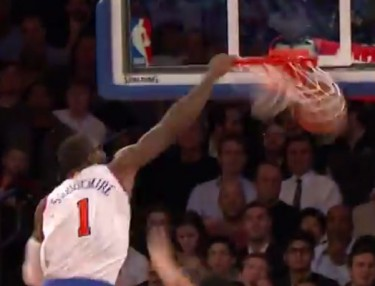 NBA Highlight: Amar'e Stoudemire Posterizes Anderson Varejao