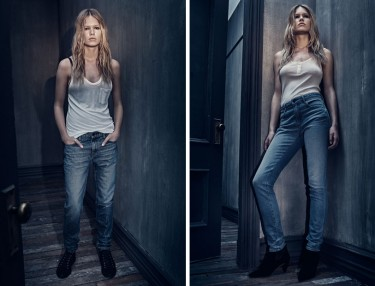 Alexander Wang Denim Line ft. Anna Ewers