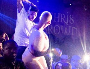 Amber Rose caught grinding up on Chris Brown at the club.