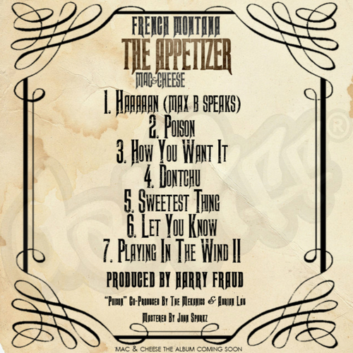 French Montana - Mac & Cheese 4: The Appetizer (Mixtape) - Back
