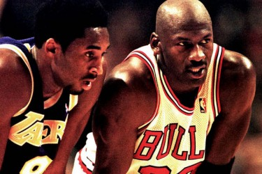 Kobe Bryant and Michael Jordan