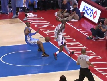 NBA Highlight: Jamal Crawford Makes Spectacular Hustle Save