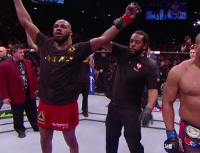 Jon Jones wins at UFC 182