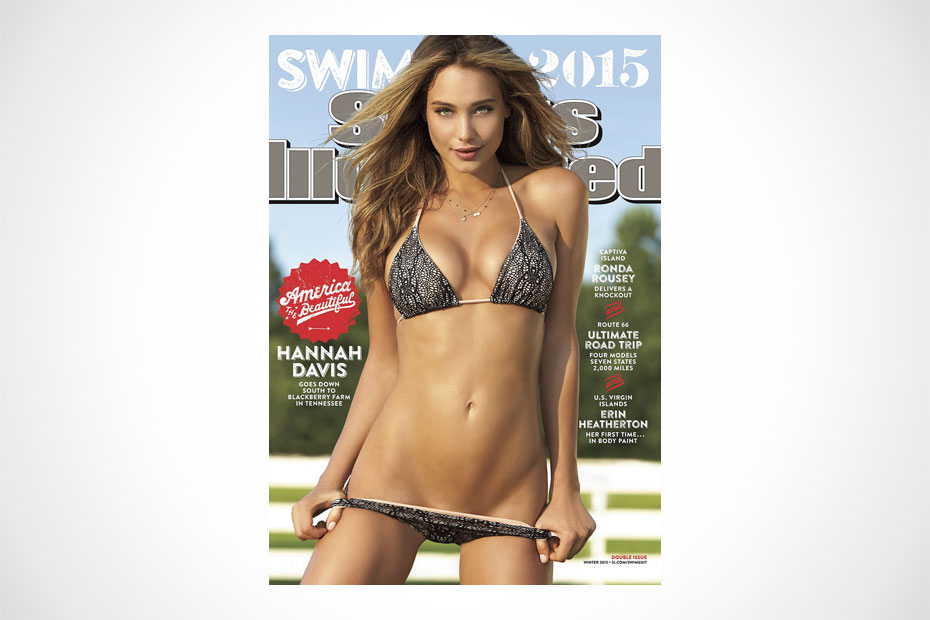 hannah davis covers sports illustrated s 2015 swimsuit