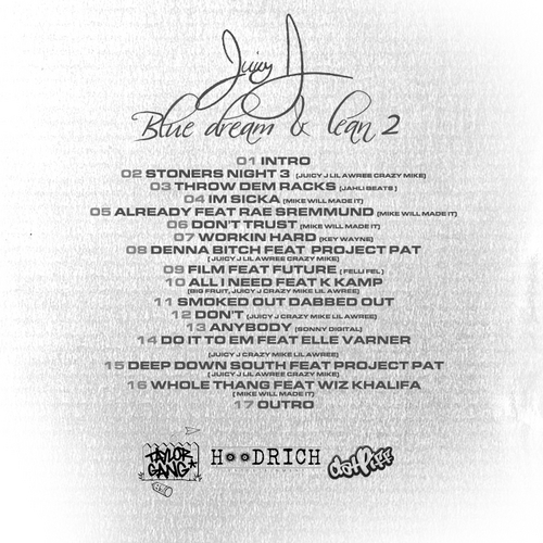 Juicy J - Blue Dream & Lean 2 (Mixtape) - Back