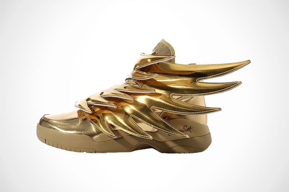 Adidas Originals Js Wings Jeremy Scott Shoes Gold Black