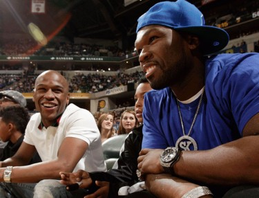 50 Cent and Floyd Mayweather