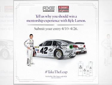 Win A Mentorship With NASCAR's Kyle Larson From AXE