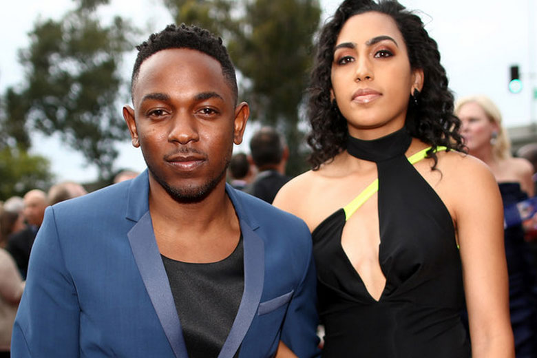Kendrick Lamar and girlfriend Whitney Alford