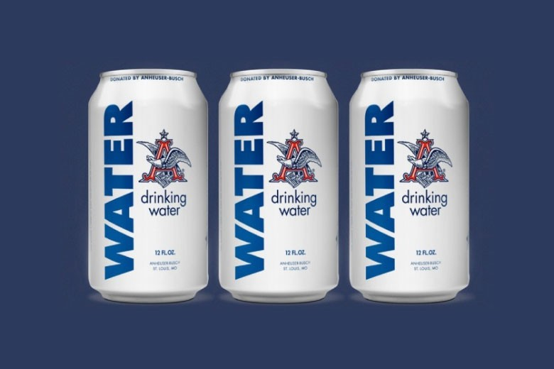 Anheuser-Busch Produces Canned Water For Flood Victims ...