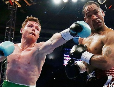 Canelo Alvarez and James Kirkland