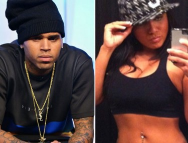 Chris Brown and Nia Guzman