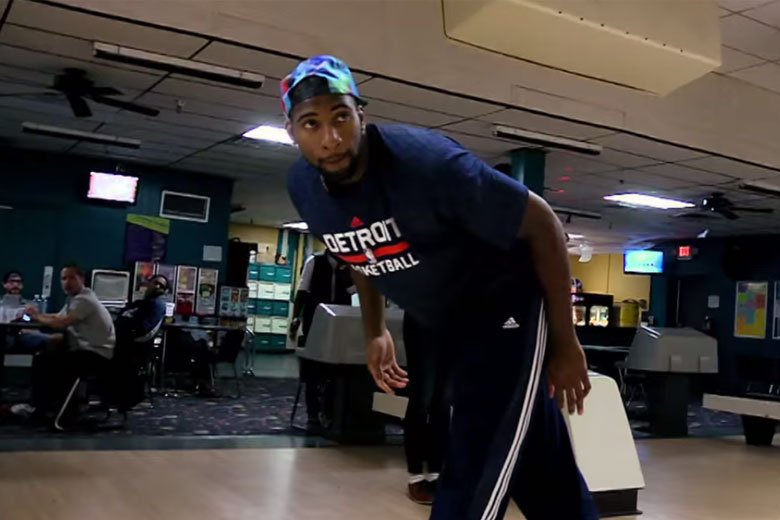 Pistons' Andre Drummond Love Bowling?