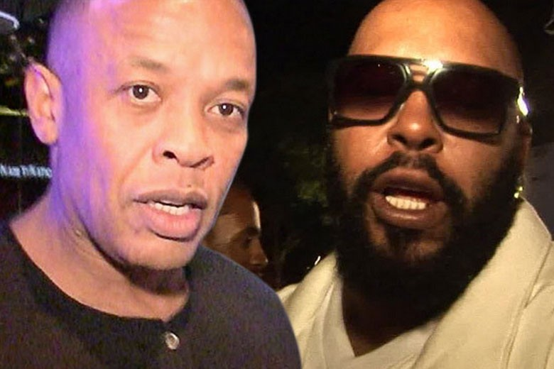 Dr. Dre and Suge Knight